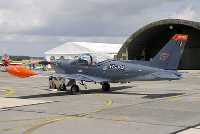Special c/s - to celebrate 40 years in service within the Belgian Air Component - on this Marchetti.