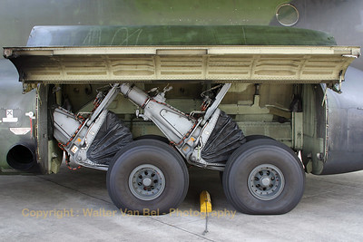 Close-up of the low-pressure tires of the German Air Force Transall C-160D (Tag der Luft- und Raumfahrt 2007).