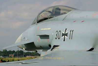 "Close-up of the German Air Force Typhoon, in the static show during the ""Tag der Luft- und Raumfahrt 2007""."