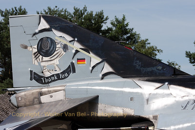 """Thank YOU""... Close-up of the F-4F Phantom II (38+37, cn 4716), from the German Air Force, adorned with a special c/s to celebrate the Phantom Phlyout of Neuberg - JG74."