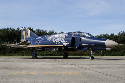 "This F-4F Phantom II (38+49, cn 4749) from JG71 ""Richthofen"" was the star of the day! Spottersday for the celebration of ""50 years Phantom II"" & ""35 years Phantom in Germany""."