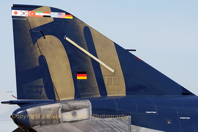 "Close-up of the tail of this F-4F Phantom II (38+49, cn 4749), from JG71 - Richthofen, celebrating ""50 years of F-4 Phantom""."