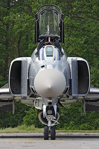 "Head-on with the F-4F Phantom II (37+03, cn 4342) from JG71, wearing the special c/s to celebrate 50 years of JG71 ""Richthofen""."
