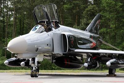 "Stylish c/s on this F-4F Phantom II (37+03, cn 4342) from JG71 at Wittmundhafen, for the celebration of ""50 Jahre JG71 (Richthofen)"""