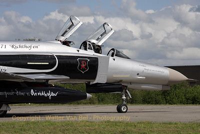 "F-4F Phantom II (37+03, cn 4342) from JG71 with special c/s to celebrate 50 years of JG71 ""Richthofen""."