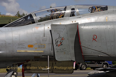 "This German Air Force F-4F (38+48, cn 4747)  participated for the last time in exercise ""Maple Flag"" at CFB Cold Lake, Alberta. Looking at the special markings on the splitter-plate, it flew a lot of missions!"