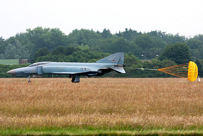 """Phinal landing"" phor this GAF F-4F Phantom II (38+64, cn4782), during the spottersday at Jever."