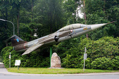 German Air Force F-104F Starfighter (FMS 59-5006, 29+09, cn5059), preserved at Jever Air Base.