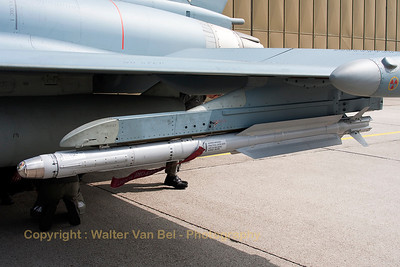Training round (Guided Missile - IRIS-T) under the wing of EF-2000 Eurofighter.