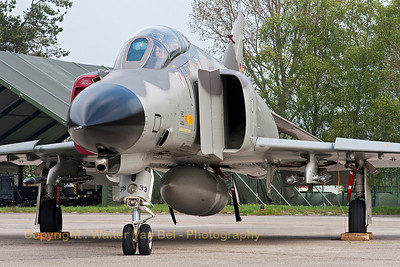 "German Air Force F-4F Phantom II (38+33, cn4429) in ""Norm 81"" retro c/s, celebrating the final months of F-4F operations."