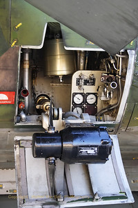 The R.A.T. (Ram Air Turbine) of the Viggen (preserved in the Aviodrome-museum at Lelystad).