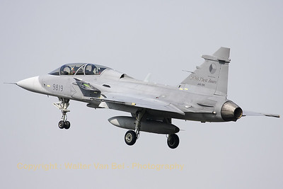 Twin-stick Czech Republic Air Force JAS-39D Gripen, visiting Cambrai-Epinoy for the fly-out ceremony of EC1/12.