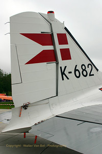 "Tail close-up. Royal Danish Air Force Historic Flight (""OY-BPB / K-682"", cn20019). Old glories' gathering at Lelystad..."