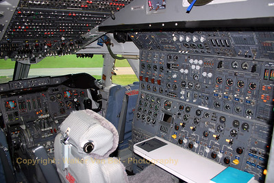 Flight-engineer's workstation in PH-BUK (preserved in the Aviodrome-museum at Lelystad in the Netherlands).