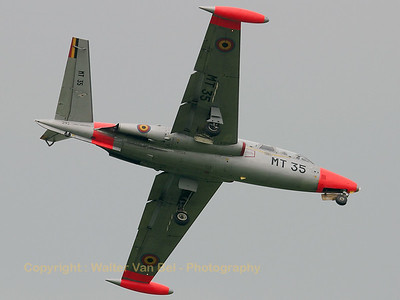 After today (June 5th, 2007), this is the very last remaining Fouga of the Belgian Air Component. Today, it accompanied sister-ship MT48, which made its very last flight, and is seen here on return to Beauvechain. Unfortunately, not such a bright day, but at least these birds can look back on a most impressive and colorful career...