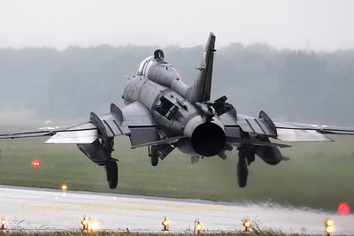 A Polish Air Force Su-22UM-3K Fitter, on final at Geilenkirchen - in awful weather conditions - during the arrival day for the celebrations of 30 years AWACS. The Sukhoi Su-22 remains a very impressive sight!