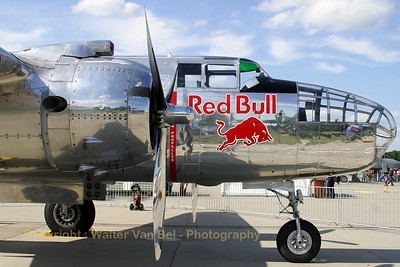 Nicely polished! Would have loved to see this one flying...North American B-25J Mitchell (N6123C  - cn 108-47647) from Red Bull (The Flying Bulls).