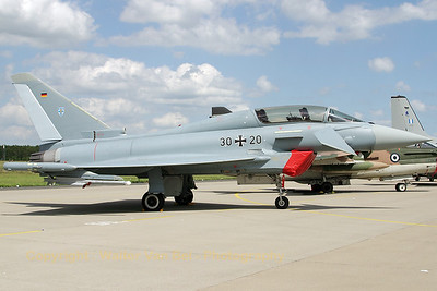 Twin-stick Eurofighter from JG73 in the static at Geilenkirchen.