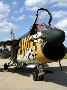 "Very impressive ""tiger""-c/s on this Hellenic Air Force A-7E from 335MV"