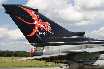Tornado IDS (MM7006 / 6-31 - cn 102/IS005/5008) from 154 Gruppo with special tail c/s (celebrating 25 years of Tornado operations), in the static at Geilenkirchen.
