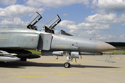 German Air Force F-4F Phantom II (38+55 - cn 4763) from JG71 (Richthofen), sunbathing in the static at Geilenkirchen AFB.