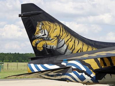 "The famous Greek ""tiger"" - a LTV A-7E Corsair II - in the static show at Geilenkirchen."