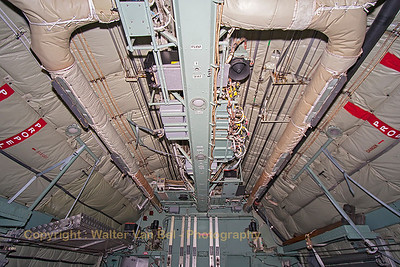Looking forward in the cargo-bay of the Belgian Air Force C-130H (CH-13, cn382-4047).