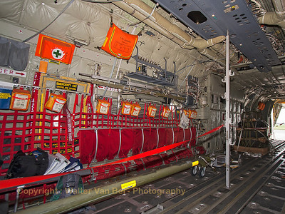 Looking aft in the cargo-bay of the Royal Danish Air Force C-130J (B-537, cn382-5537) from ESK721.