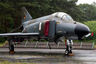 "German Air Force F-4F Phantom II (38+10, cn4635) in ""Norm 72"" retro c/s (celebrating 40 years of F-4F operations), on a very very wet spottersday prior to the Pharewell."