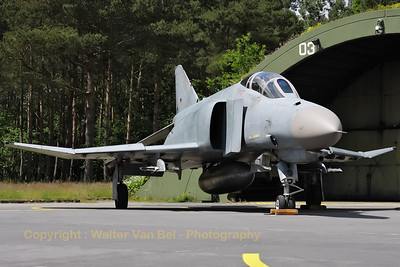 German Air Force F-4F Phantom II (38+42, cn4731), proudly posing in front of its shelter, during the 2012-spottersday at Wittmund.
