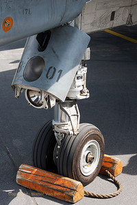 Nose-wheel close-up of German Air Force F-4F Phantom II (38+01).