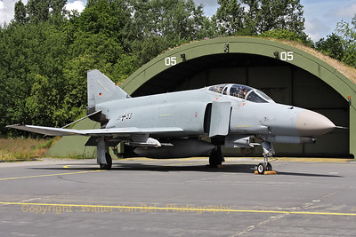 German Air Force F-4F Phantom II (38+53, cn4759), proudly posing in front of its shelter, during the 2012-spottersday at Wittmund.