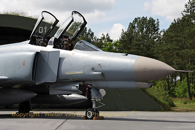 Close-up of a German Air Force F-4F Phantom II (38+29, cn4691), proudly posing in front of its shelter, during the 2012-spottersday at Wittmund.