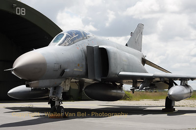 German Air Force F-4F Phantom II (38+01, cn4607), proudly posing in front of its shelter, during the 2012-spottersday at Wittmund.