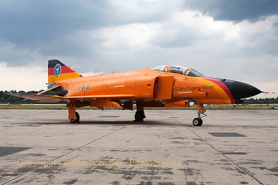 """Dark clouds over the Phantom... I was very glad to see that this beautiful F-4F Phantom II from WTD61 - still in its special c/s for """"50 Jahre Flugerprobung"""" - was still preserved in good condition at Manching."""