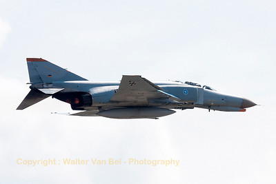 The WTD61 F-4F Phantom II (37+15, cn4385) performs a high speed pass during one of her last phlights at Manching.