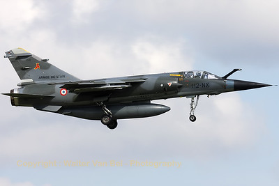 Two French Air Force Mirages from ER2/33 at Reims-Champagne visited Volkel AFB, for a lunch/fuel-stop, while practising on a bombing range. This Mirage F1CR carried a big centerline fueltank while the other, a Mirage F1CT (112-QW) carried practise bombs.