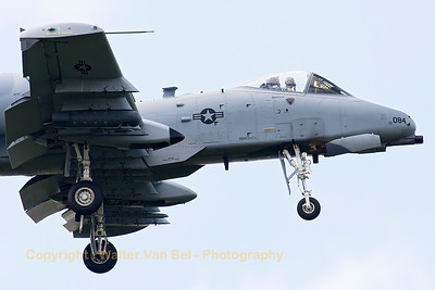 "Close-up of this Idaho ANG A-10C (79-0084, cnA10-0348) from 124th FW/190th FS, is seen on final for RWY05 at Spangdahlem, after another mission in exercise ""Combined Resolve II""."