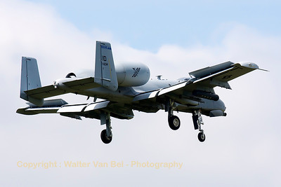 "This Idaho ANG A-10C (78-0634, cnA10-0254) from 124th FW/190th FS, is seen on final for RWY05 at Spangdahlem, after another mission in exercise ""Combined Resolve II""."