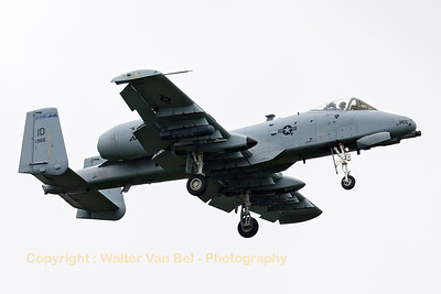 "This Idaho ANG A-10C (81-0955, cnA10-0650) from 124th FW/190th FS, is seen on final for RWY05 at Spangdahlem, after another mission in exercise ""Combined Resolve II""."