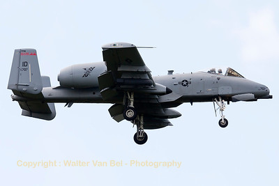 "This Idaho ANG A-10C (78-0707, cnA10-0327) from 124th FW/190th FS, is seen on final for RWY05 at Spangdahlem, after another mission in exercise ""Combined Resolve II""."