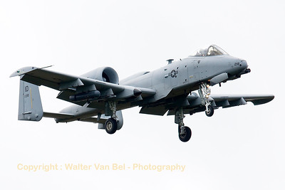 "This Idaho ANG A-10C (80-0218, cnA10-0568) from 124th FW/190th FS, is seen on final for RWY05 at Spangdahlem, after another mission in exercise ""Combined Resolve II""."
