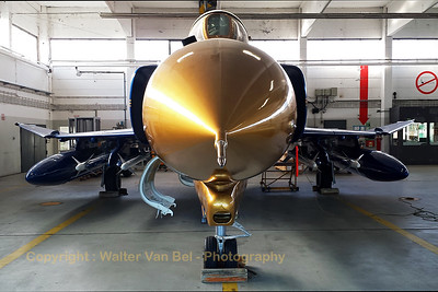 "The ""Blue Lady with the golden nose"", a German Air Force F-4F Phantom II (37+01; cn4330), preserved at Wittmund Air Base. [Samsung S4]"