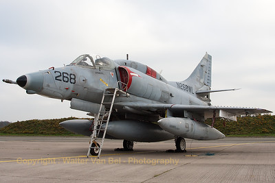 This A-4N Skyhawk (N268WL; 268; cn 14450) from BAE Systems Flight Sytems is seen here, spending its final hours in the cold weather of Northern Germany. This day was the last day of the contract between BAE Systems Flight Sytems and the German Air Force, and the Skyhawks were soon to be flown across the Atlantic (to Florida, USA).