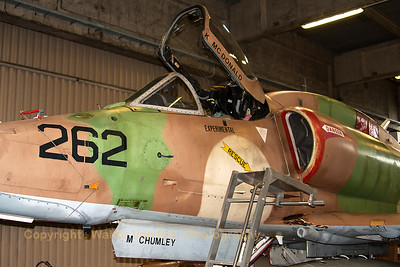 This A-4N Skyhawk from BAE Systems Flight Sytems (N262WL;262; cn14465) is seen in the hangar at Wittmund Air Base. It is being prepared for the ferry flight towards the USA.