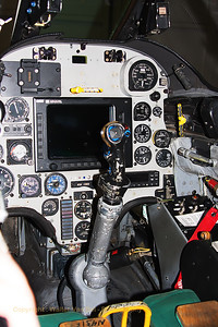 View into the cockpit of a A-4N Skyhawk (N432FS; cn 14462) from BAE SYSTEMS Flight Systems (in the hangar at Wittmund Air Base).