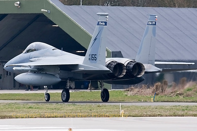 "A USAF F-15C Eagle (86-0155; cn1002/C383), taxiing back to the flightline, after completing another mission at Leeuwarden AFB. This F-15C belongs to the 125th Fighter Wing, Florida Air National Guard, Jacksonsville, Fla., which leads the first ANG Theater Security Package (TSP) to deploy in support of ""Operation Atlantic Resolve""."