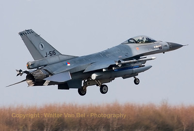 "Royal Netherlands Air Force F-16AM (J-516; cn6D-155) from 322sq, recovering to Leeuwarden AFB after a mission - with the USAF Eagles - in support of ""Operation Atlantic Resolve""."