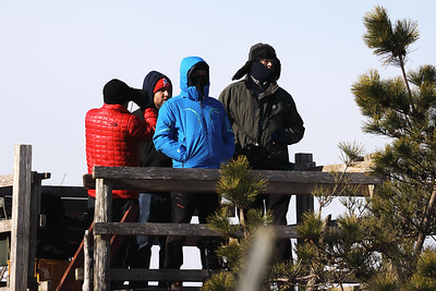 Part of the COAP-team on one of the towers at Hyakuri.