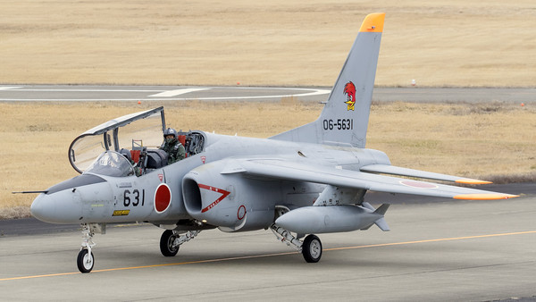 A JASDF Kawasaki T-4 (06-5631; cn1031), from 501 Hikotai, on the taxiway at Hyakuri. The 501st Tactical Reconnaissance Squadron is a squadron of the Japan Air Self-Defense Force based at Hyakuri Air Base (Ibaraki Airport) in Ibaraki Prefecture, Japan. Since 1961 the squadron's emblem has been the American cartoon character Woody Woodpecker wearing a bowtie. The use of a woodpecker also references a battle tactic of Takeda Shingen from the 16th century battles of Kawanakajima.